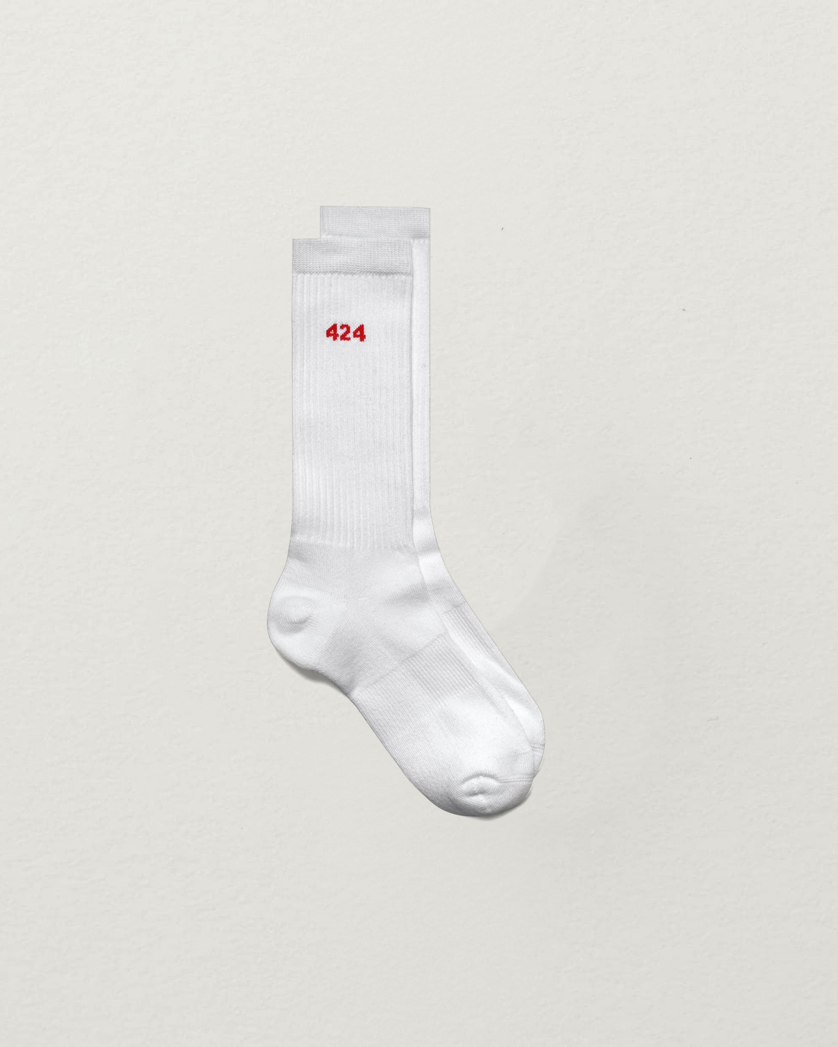 424 WHITE LOGO SOCKS