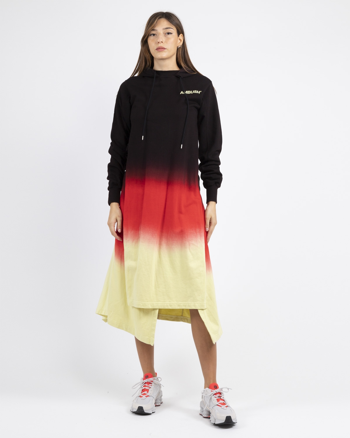 Ambush tie dye hooded dress