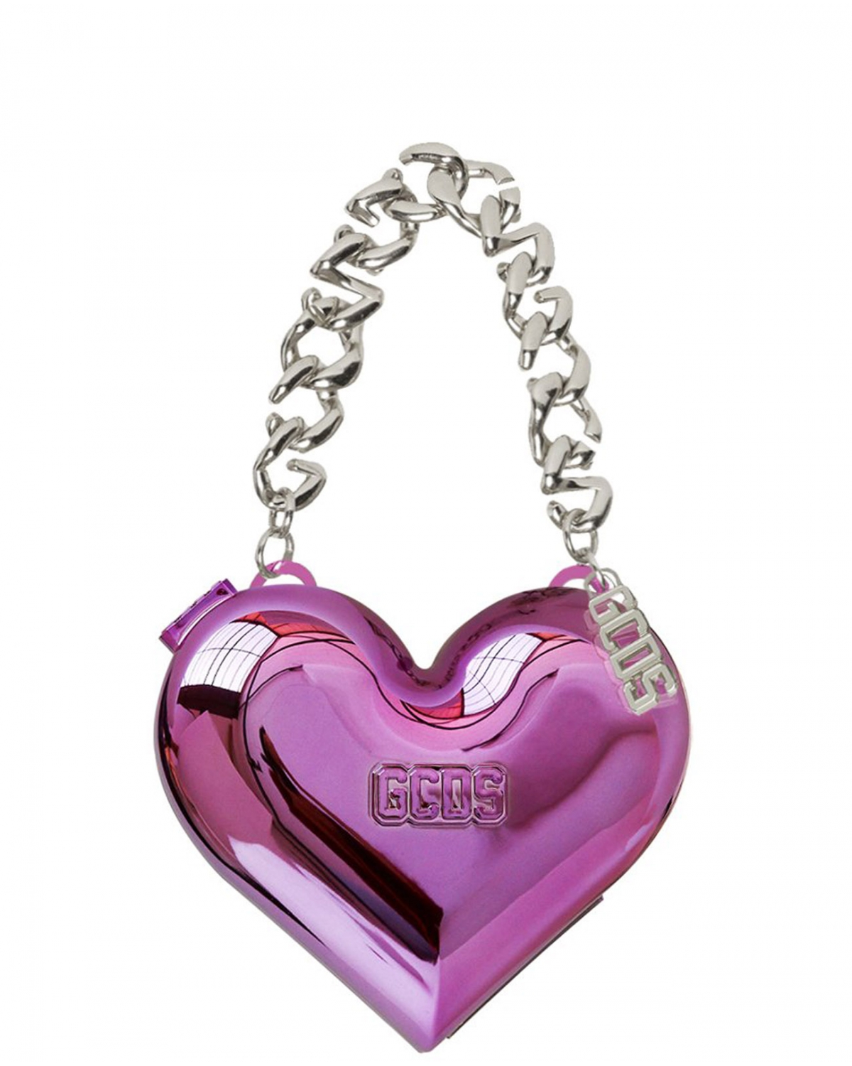 GCDS HEART METALLIC BAG