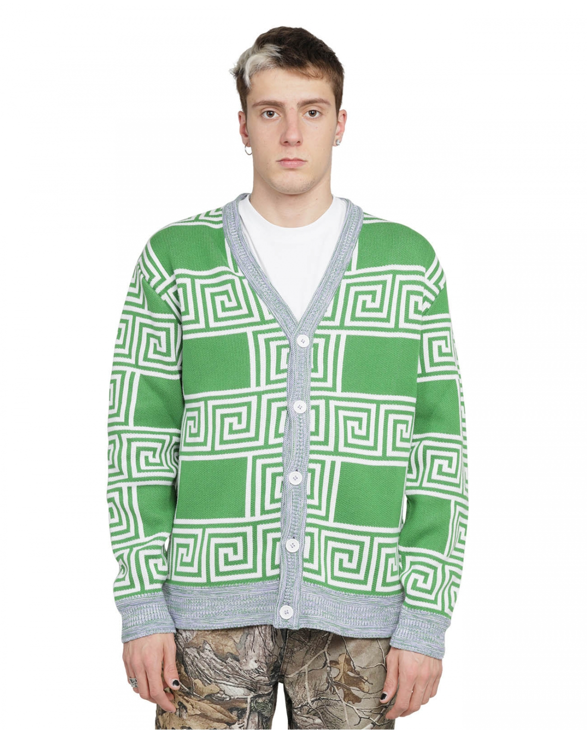 Lifesux green Greek cardigan