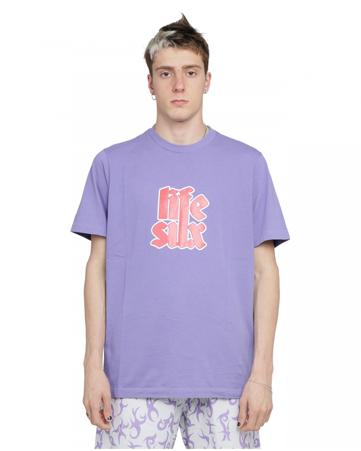 Lifesux purple Lettering tee